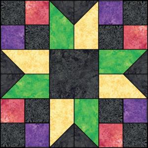 Kaleidoscope, Kaleidoscope Block of the Month, Stonehenge Gradations, Northcott Fabrics, Block of the Month, Quilt Addicts Anonymous, Stephanie Soebbing