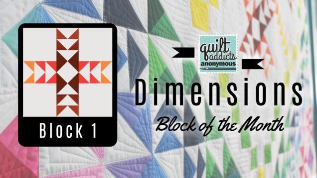 Dimensions Block of the Month – Block 1 video tutorial